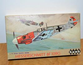 Vintage Hawk Messerschmitt Model Kit 1967 100% Unbuilt 1/72 German WW2 Plane - $18.09