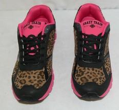 Crazy Train RUNWILD14 Black Pink Cheetah Sneakers Size 11 image 2