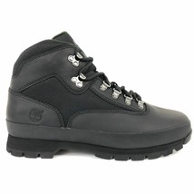 NEW Timberland MEN'S CLASSIC LEATHER EURO HIKER BLACK Ankle Shoes BOOTS ... - $109.89