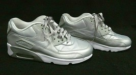 NIKE Womens AIR MAX 90 SE 859633-003 Silver Gray Shoes ~ Size Youth 6 Wo... - $41.10