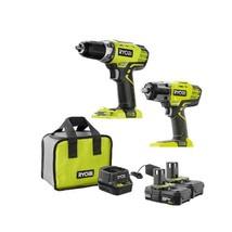 """New Ryobi 18V ONE+ Cordless 1/2"""" Drill & 1/2"""" Impact Wrench Combo Kit (P1988SBN) - $269.00"""