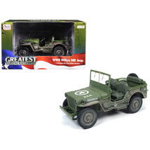 1941 Willys MB Jeep WWII U.S.A. Olive Green Drab Mud Covered/Dirty 1/18 ... - $57.35