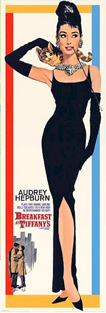 Breakfast at Tiffany's Door Poster 21x62 Audrey Hepburn  Holly Golightly OOP