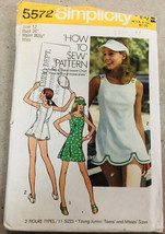 Vintage Simplicity Sewing Pattern 5572 Misses Dress Panties and Visor Un... - $8.99