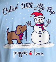 Puppie Love Rescue Dog Adult Unisex Short Sleeve Graphic Tee, Chillin' Pup image 2