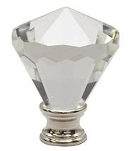 Urbanest Crystal Belle Lamp Finial, Satin Nickel, 2 3/16-inch Tall - £10.73 GBP