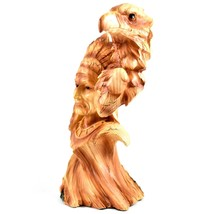 Faux Wood Western Native American Indian with Eagle Bust Resin Figurine image 2