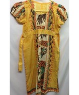 Handmade Unbranded Womens Mu Mu Dress Length 36.5 Tie String Hawaiian - $9.89