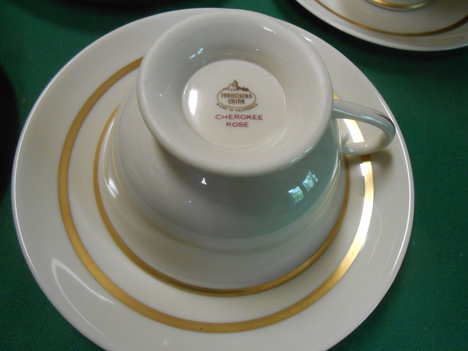 """Great Collectible FRANCISCAN China """"Cherokee Rose"""" Set of 5 CUPS & SAUCERS"""
