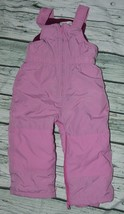 Children's Place Girls Snow Ski Pants Bibs 18-24 Months Pink - $4.94