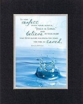 Jesus Is Lord . . . 8 x 10 Inches Biblical/Religious Verses set in Double Bevele - $11.14
