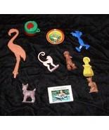1950s Crackerjack & Cereal Premiums Vintage Toy Lot Pink Flamingo Jigsaw... - £25.60 GBP