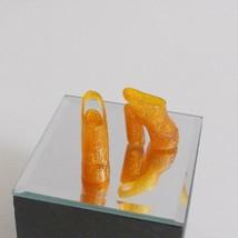 Barbie Glitter Platform Shoes Fits Model Muse Orange Clear - $17.81