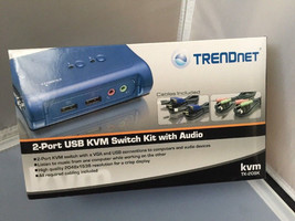 TRENDnet TK 209K - KVM / audio switch - 2 ports ~ Open Box - $29.95