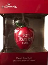 by Hallmark Best Teacher Christmas Ornament School Gift Boxed Apple Holiday - $19.79