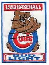 Beer Baseball Chicago Cubs & Bud Light Beer 1983 National League Promo Patch 5 x - $9.99