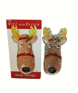 """Fitz and Floyd Reindeer Snack Therapy Tray Server 2005 Wall Hanging 13"""" - $19.79"""
