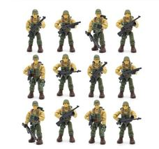12pcs Set WW2 II US Army Soldiers Military with Weapons Call Machine Tel... - $33.99