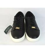 LAUREN Ralph Lauren Reaba women's shoes fashion sneakers black leather s... - $48.99