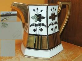 "Antique Stouffer T&V Limoges France 6"" Pitcher Hand Painted gold platinu... - $84.99"