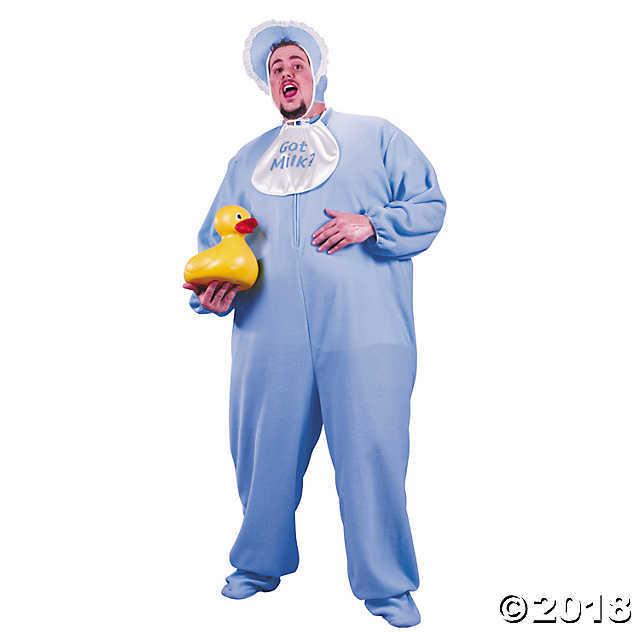 Men's Plus Size Blue PJ Jammies Costume