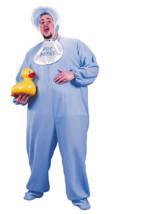Men's Plus Size Blue PJ Jammies Costume - $52.48