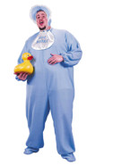 Men's Plus Size Blue PJ Jammies Costume - £40.87 GBP
