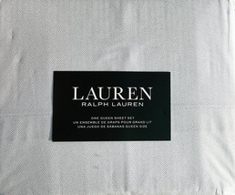 Ralph Lauren 100% Cotton Queen Sheet Set, Small Dots, Color: White and Grey - $96.99