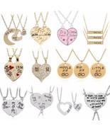 2PC/Set Big Sis Lil Sis Pendant BFF Best Sister Necklaces&Pendants Heart... - $10.44