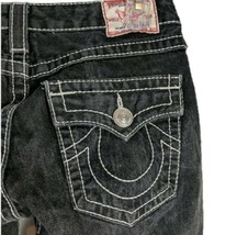 True Religion Black Distressed Boot Cut Jeans Womens Size 28 05-503NBT 6... - $59.95