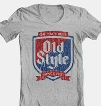 Old Style Beer T-shirt Heilemans vintage style cotton blend grey graphic tee image 1