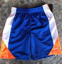 Nike Orange Blue White Shorts With Side Pockets Boys Girls Size 4 - $11.88