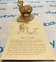 """Lowell Davis """"Warm Milk"""" Figurine 1989 Schmid Cat Bowl 223630 Friends of Mine - $37.11"""
