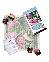 Dimensions Colorful Hummingbird Latch Hook Craft Kit, 16'' x 16'' New - $30.84