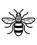 Manchester Bee Symbol Vinyl Decal car truck window laptop cellphone tumb... - $3.00+