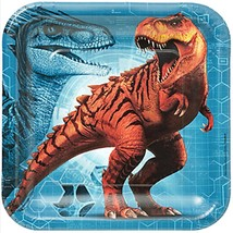 Jurassic World Lunch Plates 8 Per Package Birthday Party Supplies Amscan New - $4.70