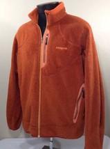 Patagonia Fleece Jacket Regulator Orange Full Zip Men's XL Made USA Coat... - $79.99