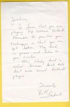 BILL LENKAITIS AUTOGRAPHED HAND WRITTEN LETTER NEW ENGLAND PATRIOTS - £4.27 GBP