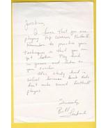 BILL LENKAITIS AUTOGRAPHED HAND WRITTEN LETTER NEW ENGLAND PATRIOTS - £4.30 GBP