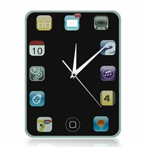 Tablet Pad Tablet Smart Phone Screen Style Wall Clock Gift for Technolog... - $29.98