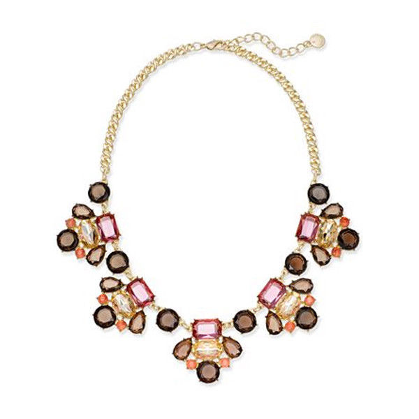 Charter Club Gold-Tone Multi-Stone Statement Necklace