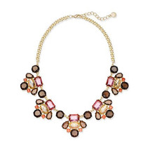 Charter Club Gold-Tone Multi-Stone Statement Necklace - $14.99