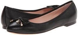 Kate Spade New York Women's Willa Ballet Loafer Flats Shoes Nappa Black Size 6.5