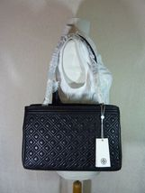 NWT Tory Burch Black Fleming Open Shoulder Tote image 4