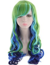 Long Wavy Multi-Color Wig Heat Resistant Wig for Cosplay Girls Party Wig... - $23.60