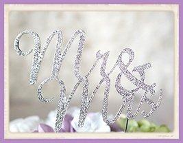 Crystal Rhinestone Cake Topper Wedding Monogram Mr & Mrs diamante Bling ... - $9.64