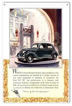 Ford V-8 No Comparison Vintage Automobile Reproduction Metal Sign 12x18 - $25.74
