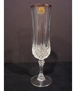 Set of 10  Crystal Champagne Flutes Cristal d'Arques Paris Diamax Longch... - $44.90
