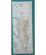 "GIBRALTAR  4 x 10""  (10 x 25 cm) - 1934 German Map - $19.80"