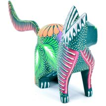 Handmade Alebrijes Oaxacan Copal Wood Carving Painted Cat Kitten Figurine image 4